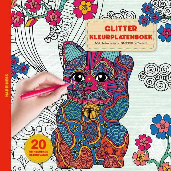 glitter kleurplaten boek happiness boeken