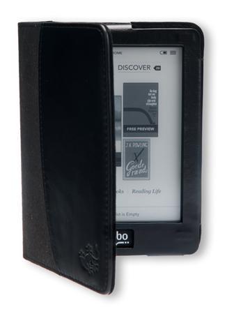 Gecko Covers Leren Beschermhoes voor Kobo Glo - Zwart