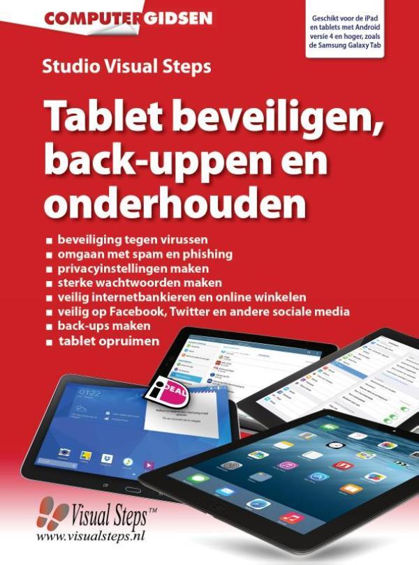 Kaft van e-book Tablet beveiligen, back-uppen en onderhouden