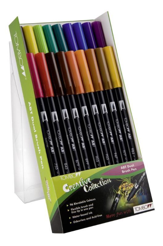 TOMBOW Dual Brush Pen ABT, 18-colours-set, primary colours