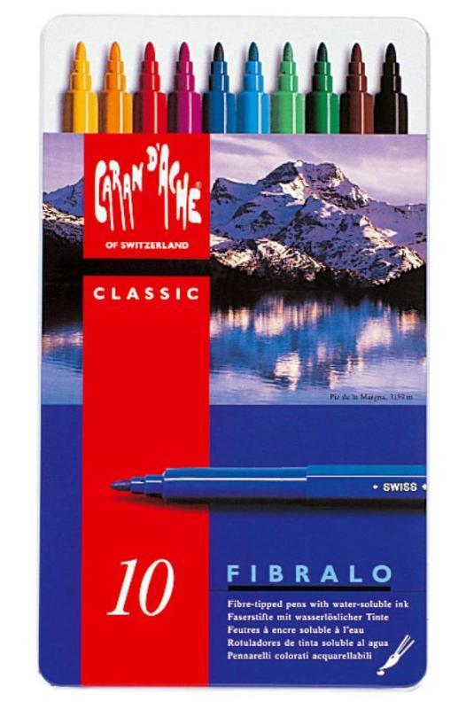 FIBRALO STIFTEN, Metalen doos, 10 kleuren