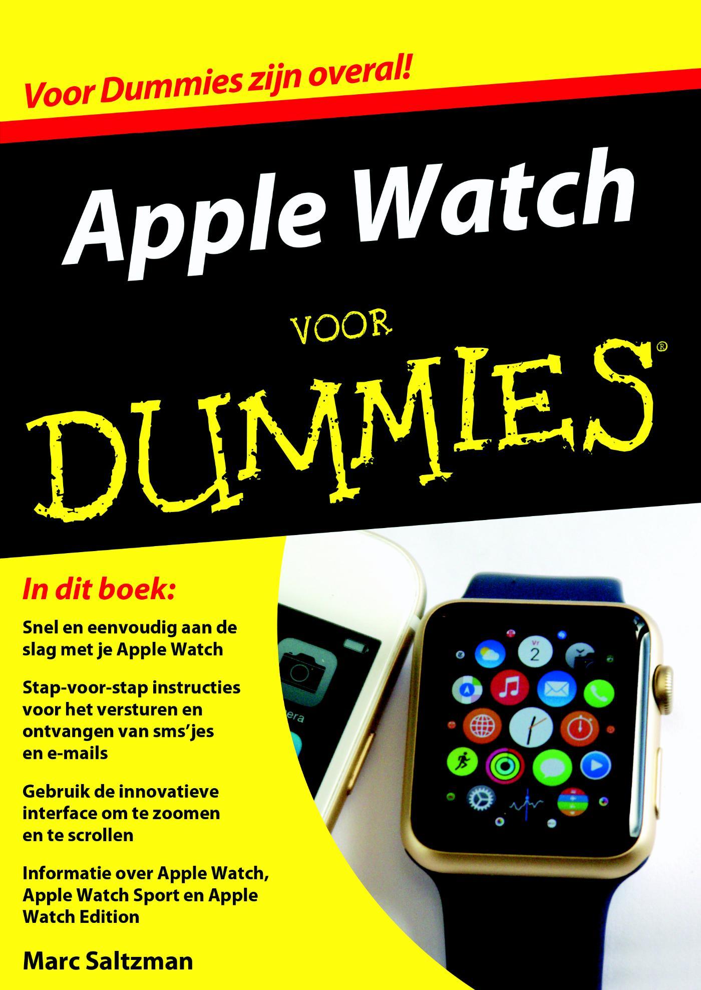 Kaft van e-book Voor Dummies - Apple Watch voor Dummies